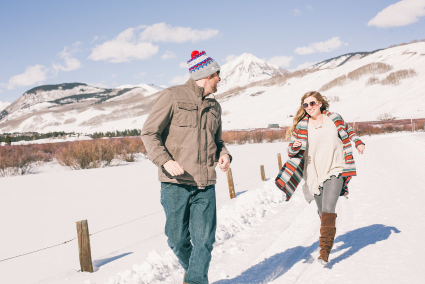 001 Julie Matt Crested Butte Engagement Winter Snow Outdoors Fun Local spots Paradise