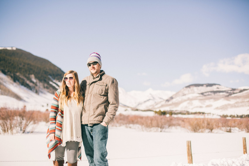 002 Julie Matt Crested Butte Engagement Winter Snow Outdoors Fun Local spots Paradise