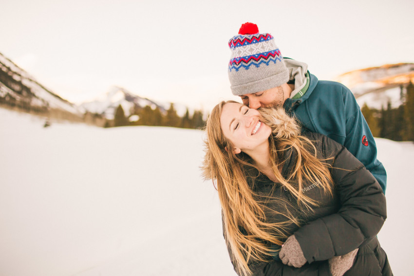 003 Julie Matt Crested Butte Engagement Winter Snow Outdoors Fun Local spots Paradise
