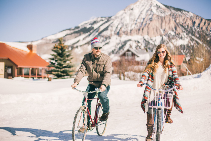 006 Julie Matt Crested Butte Engagement Winter Snow Outdoors Fun Local spots Paradise
