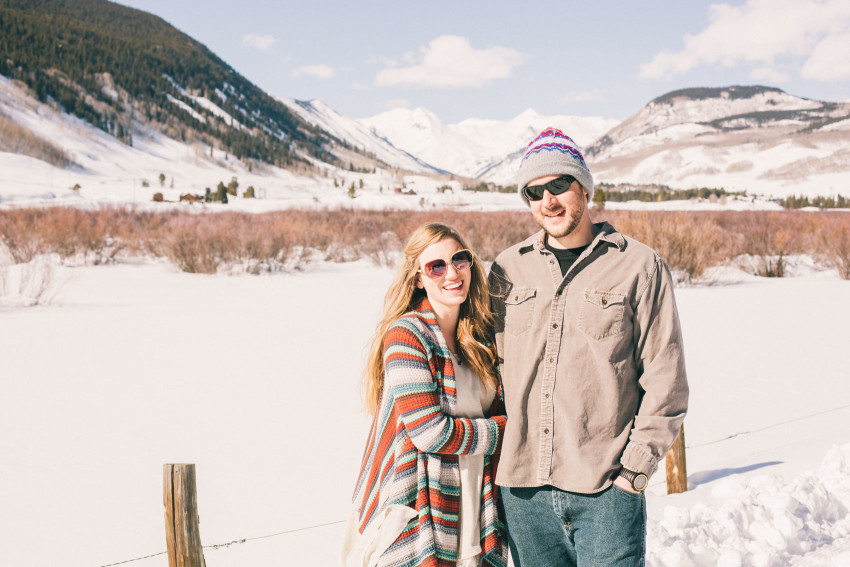 007 Julie Matt Crested Butte Engagement Winter Snow Outdoors Fun Local spots Paradise
