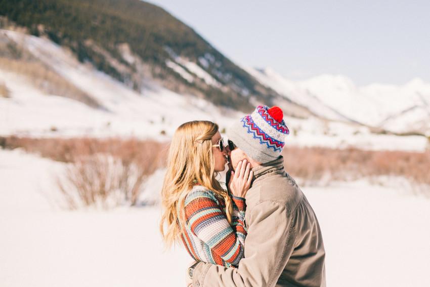 008 Julie Matt Crested Butte Engagement Winter Snow Outdoors Fun Local spots Paradise