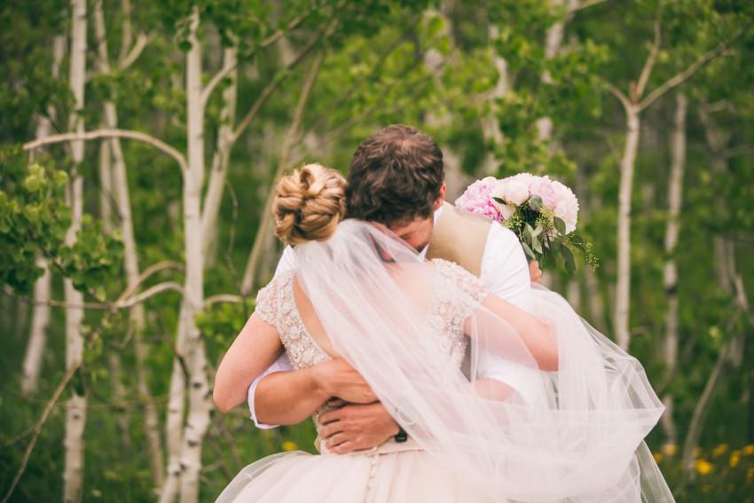 011_Crested Butte Wedding Photographer Secret Stash Woods Walk Ceremony Jamie Blue Bird Events Boho Epic Stars