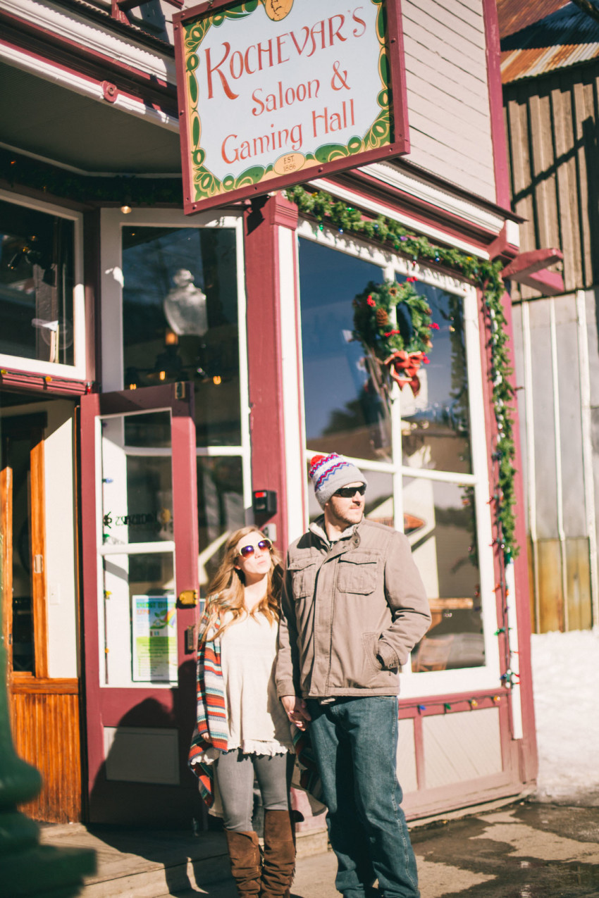012 Julie Matt Crested Butte Engagement Winter Snow Outdoors Fun Local spots Paradise