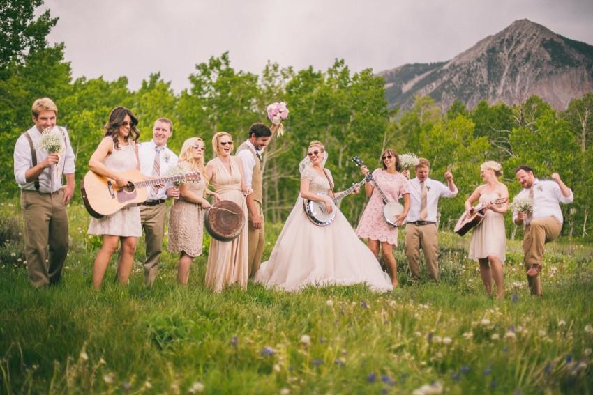 018_Crested Butte Wedding Photographer Secret Stash Woods Walk Ceremony Jamie Blue Bird Events Boho Epic Stars