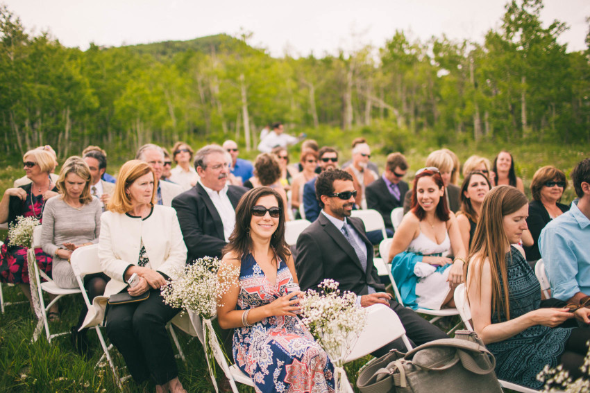 021_Crested Butte Wedding Photographer Secret Stash Woods Walk Ceremony Jamie Blue Bird Events Boho Epic Stars