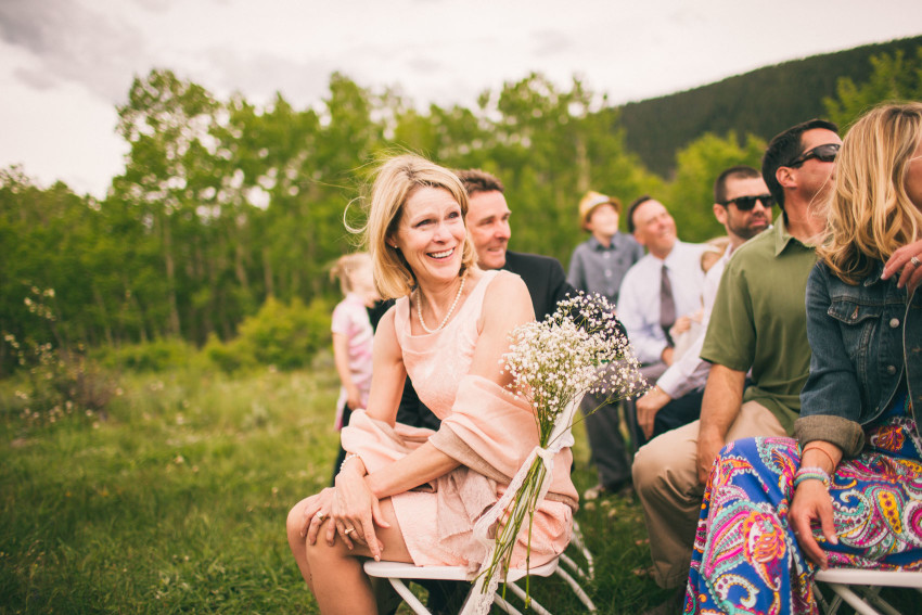 024_Crested Butte Wedding Photographer Secret Stash Woods Walk Ceremony Jamie Blue Bird Events Boho Epic Stars