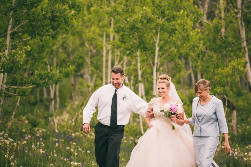 025_Crested Butte Wedding Photographer Secret Stash Woods Walk Ceremony Jamie Blue Bird Events Boho Epic Stars