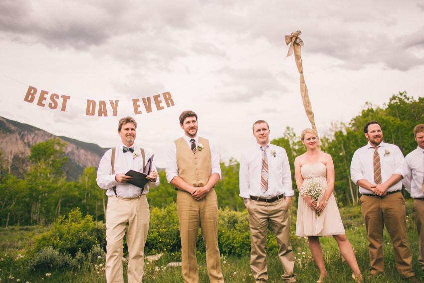 026_Crested Butte Wedding Photographer Secret Stash Woods Walk Ceremony Jamie Blue Bird Events Boho Epic Stars