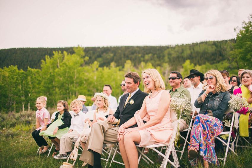 030_Crested Butte Wedding Photographer Secret Stash Woods Walk Ceremony Jamie Blue Bird Events Boho Epic Stars