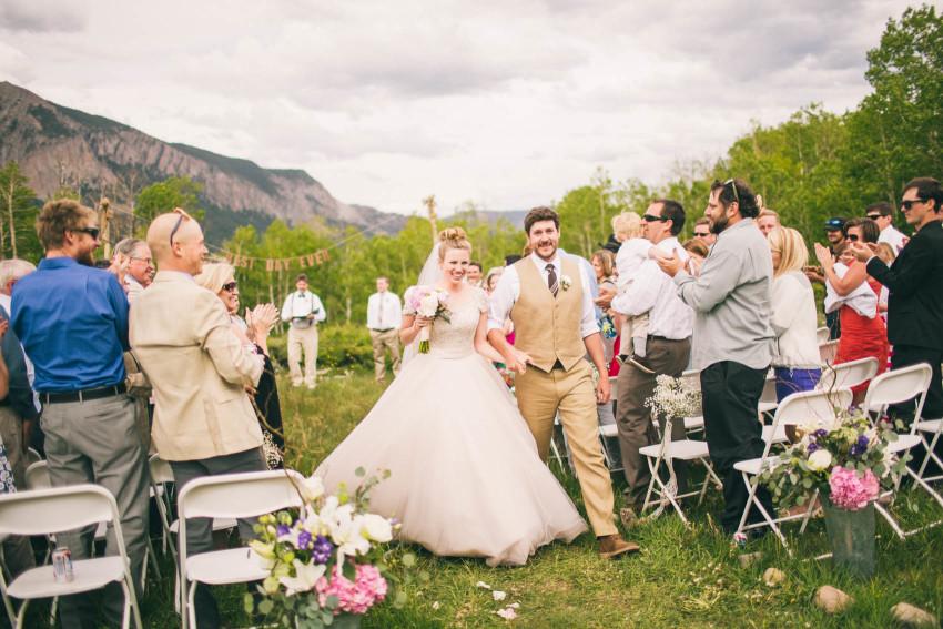 032_Crested Butte Wedding Photographer Secret Stash Woods Walk Ceremony Jamie Blue Bird Events Boho Epic Stars