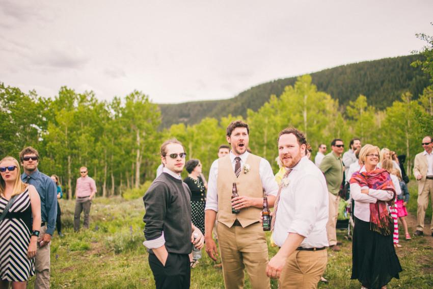 033_Crested Butte Wedding Photographer Secret Stash Woods Walk Ceremony Jamie Blue Bird Events Boho Epic Stars