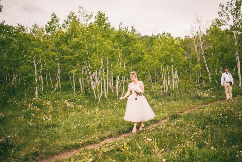 034_Crested Butte Wedding Photographer Secret Stash Woods Walk Ceremony Jamie Blue Bird Events Boho Epic Stars