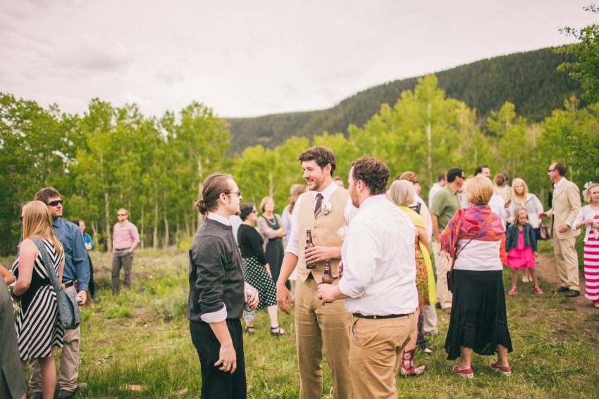 036_Crested Butte Wedding Photographer Secret Stash Woods Walk Ceremony Jamie Blue Bird Events Boho Epic Stars
