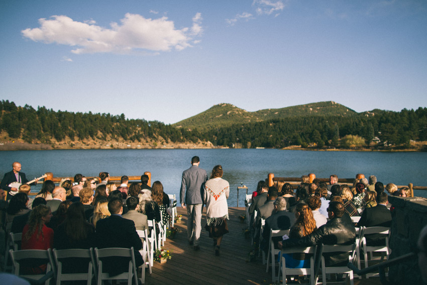 042 Evergreen Lake House Wedding Photographer view at the lake house