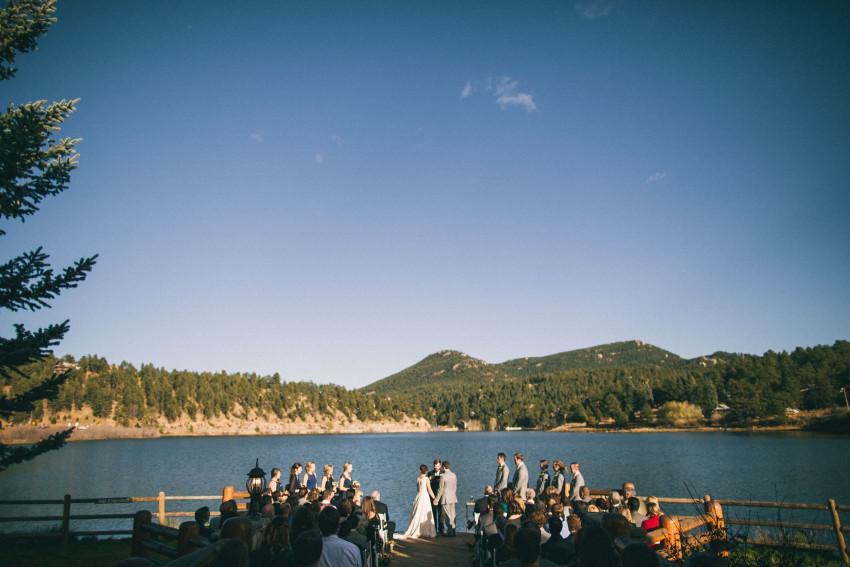 045 Evergreen Lake House Wedding Photographer ceremony