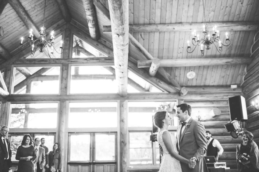 057 Evergreen Lake House Wedding Photographer bride groom first dance