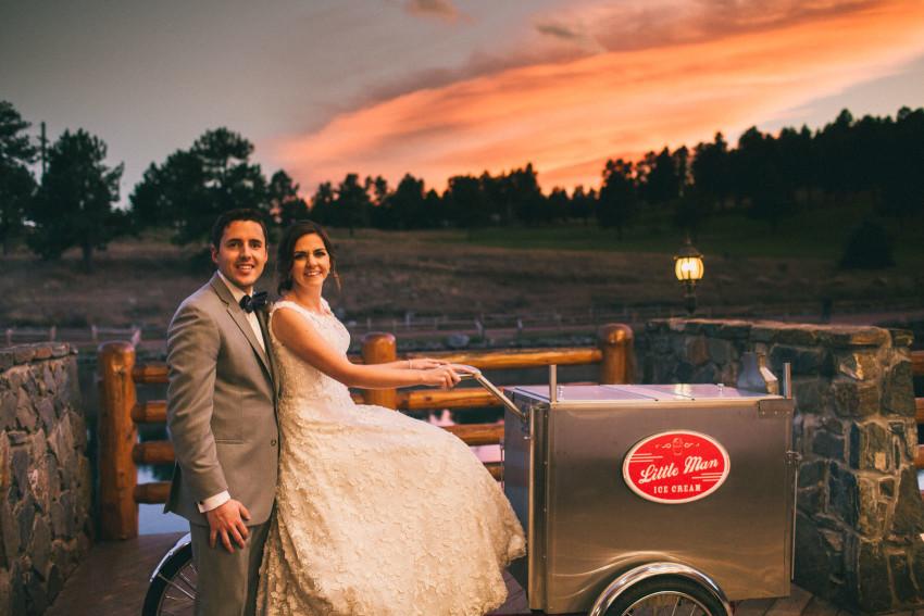 059 Evergreen Lake House Wedding Photographer little man ice cream