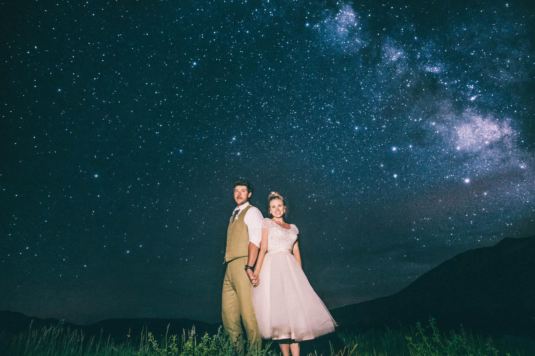 060_Crested Butte Wedding Photographer Secret Stash Woods Walk Ceremony Jamie Blue Bird Events Boho Epic Stars