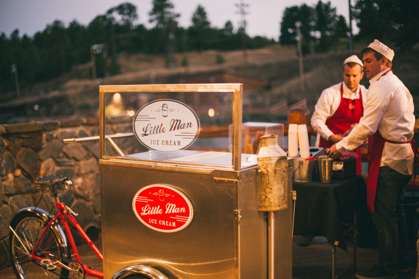 061 Evergreen Lake House Wedding Photographer little man ice cream catering wedding