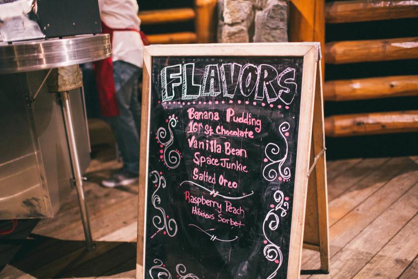 062 Evergreen Lake House Wedding Photographer little man ice cream catering flavors