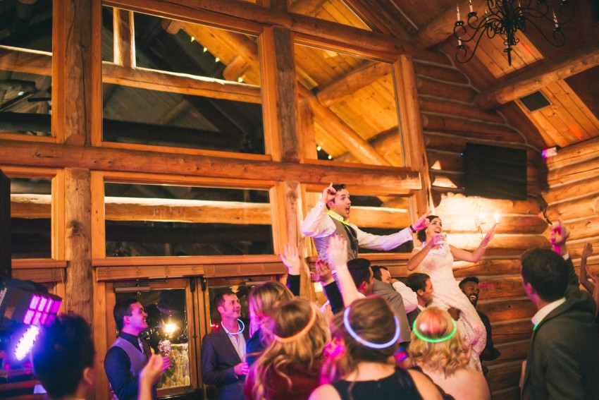 075 Evergreen Lake House Wedding Photographer reception wedding bride and groom picked up