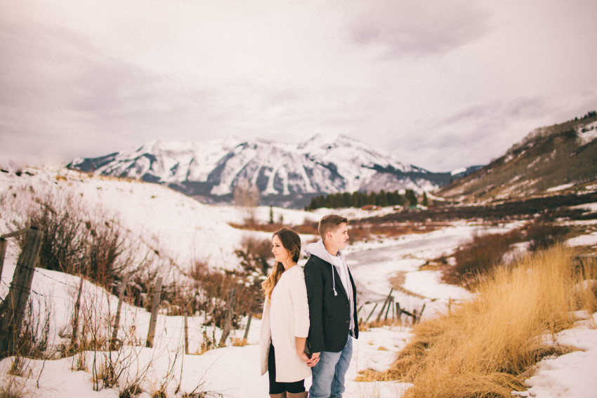 Kolby Dillon Crested Butte Outdoor Mountain Engagement Adventure Winter-002