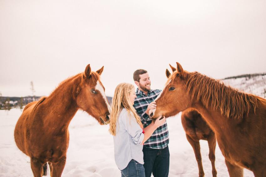 Kori Dan Engagement Steamboat Springs Vista Verde Ranch Horses Barn Snow Winter-002