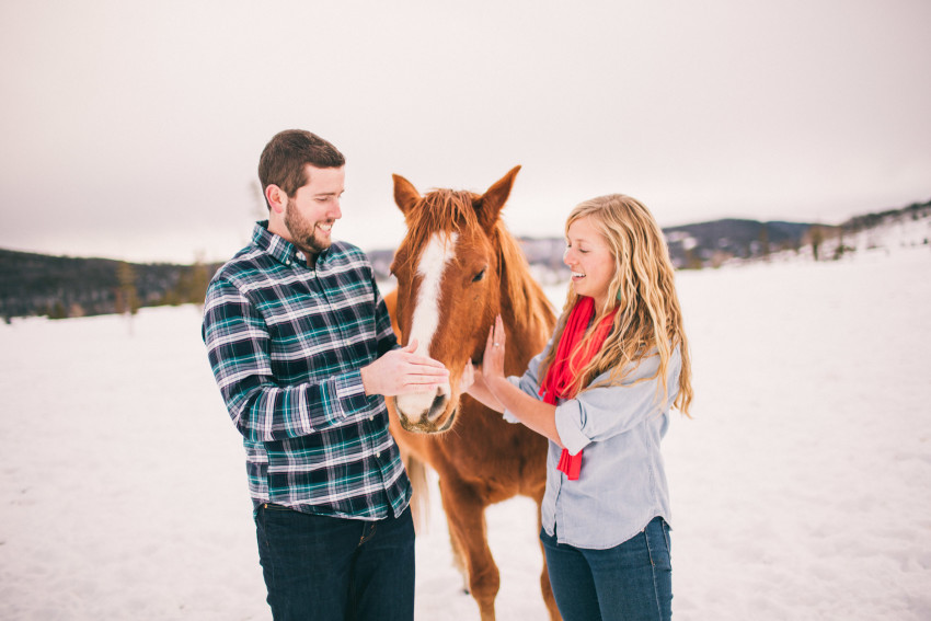 Kori Dan Engagement Steamboat Springs Vista Verde Ranch Horses Barn Snow Winter-007
