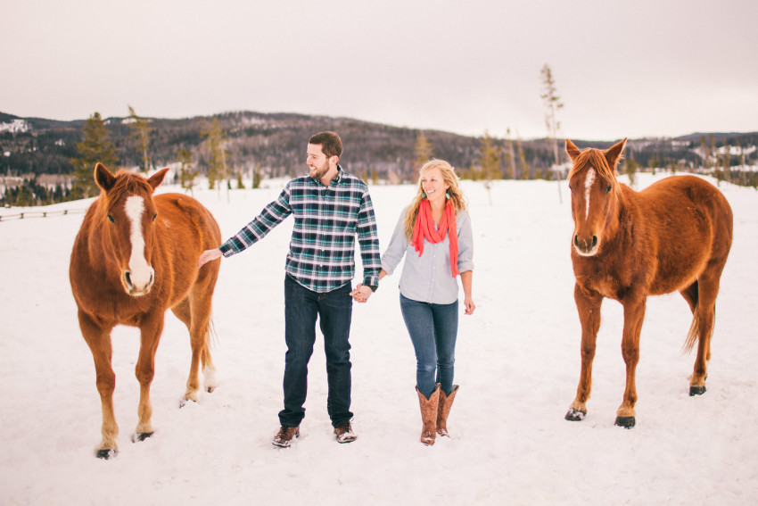Kori Dan Engagement Steamboat Springs Vista Verde Ranch Horses Barn Snow Winter-010