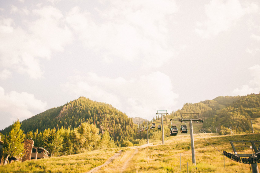 010 Aspen CO Mountain Top Gondola Upload Intimate Luxury Wedding Tiffany Tom