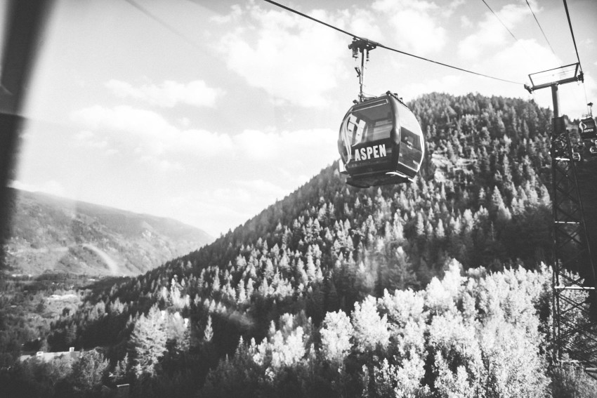 012 Aspen CO Mountain Top Luxury Wedding Gondola Intimate Tiffany Tom