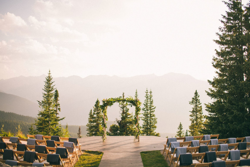 017 Aspen CO Mountain Top Luxury Wedding Ceremony Site