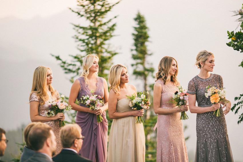 030 Aspen CO Mountain Top Luxury Wedding Bridesmaid Dresses Intimate Ceremony Tiffany Tom