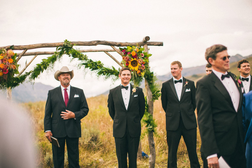 037 Crested Butte CO Private Ranch Wedding Local Foodie Stormy Rain Unique Initimate Burning of Sage Ceremony Barn Live Band Marquee Lights Stars Night Sky