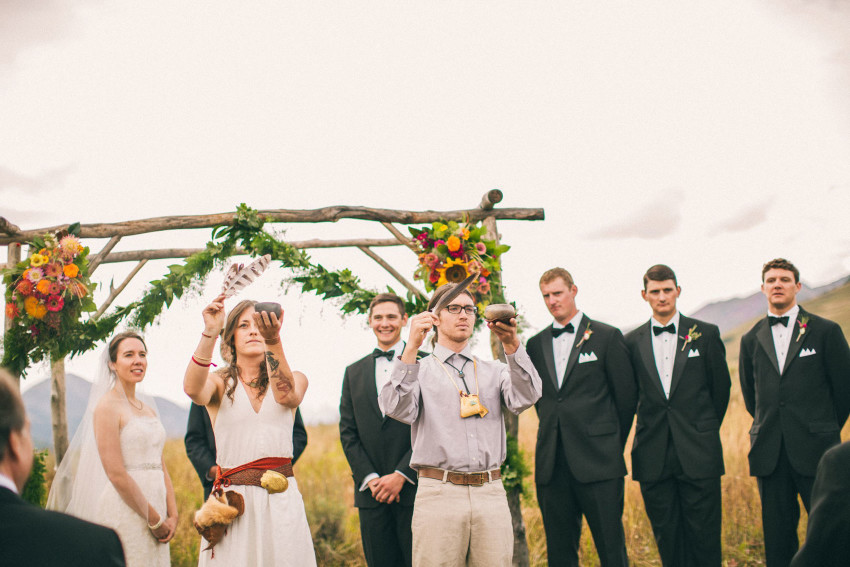 044 Crested Butte CO Private Ranch Wedding Local Foodie Stormy Rain Unique Initimate Burning of Sage Ceremony Barn Live Band Marquee Lights Stars Night Sky
