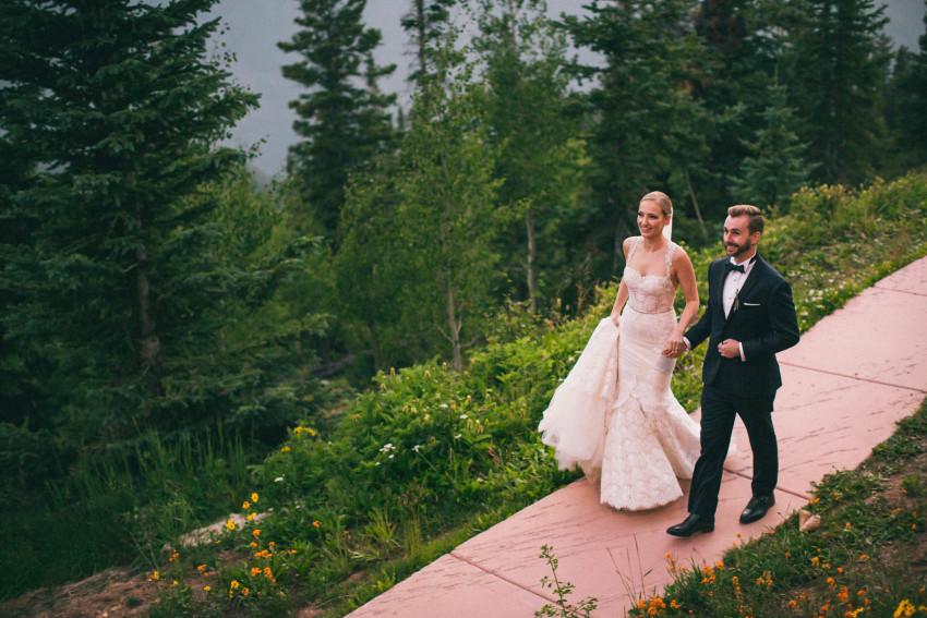 046 Aspen CO Mountain Top Luxury Wedding Inbal Dror Dress Intimate Tiffany Tom