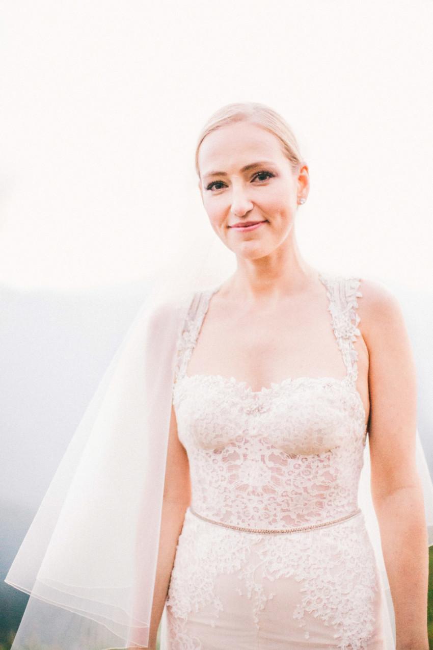 051 Aspen CO Mountain Top Luxury Wedding Inbal Dror Dress Bridal Portrait Tiffany Tom