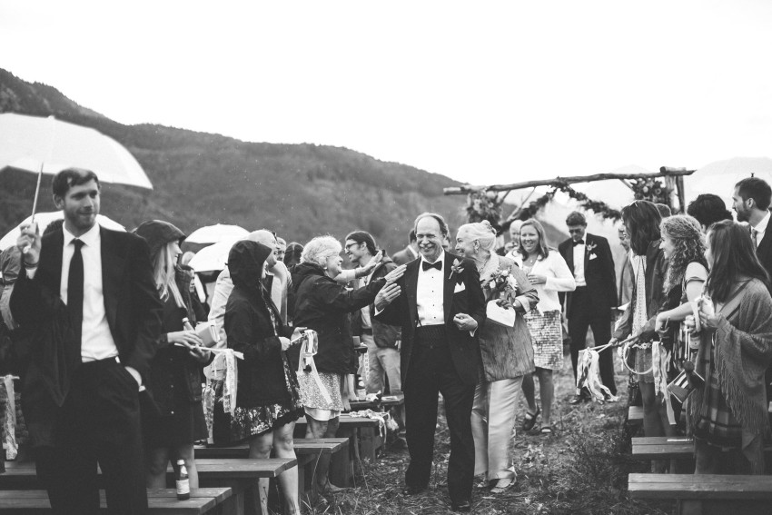 056 Crested Butte CO Private Ranch Wedding Local Foodie Stormy Rain Unique Initimate Burning of Sage Ceremony Barn Live Band Marquee Lights Stars Night Sky