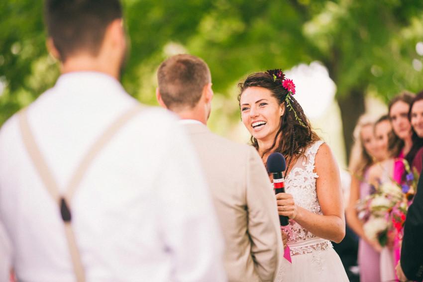 057 Mukwonago Milwaukee WI Barn DIY Laid-back Emotional Wedding Ceremony Danny Andrea