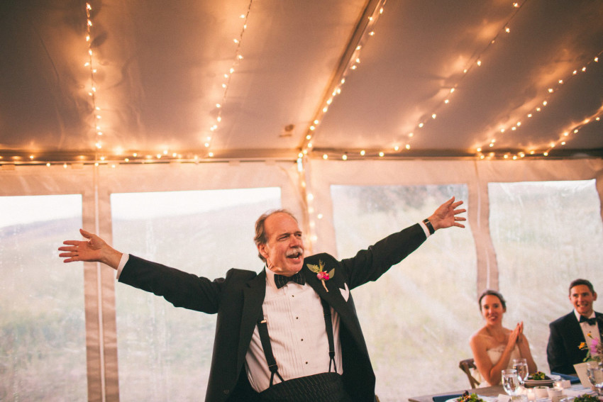085 Crested Butte CO Private Ranch Wedding Local Foodie Stormy Rain Unique Initimate Burning of Sage Ceremony Barn Live Band Marquee Lights Stars Night Sky