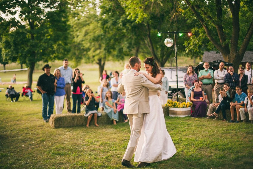 102 Mukwonago Milwaukee WI Barn DIY Laid-back Country Fun First Dance Hay Bales Danny Andrea