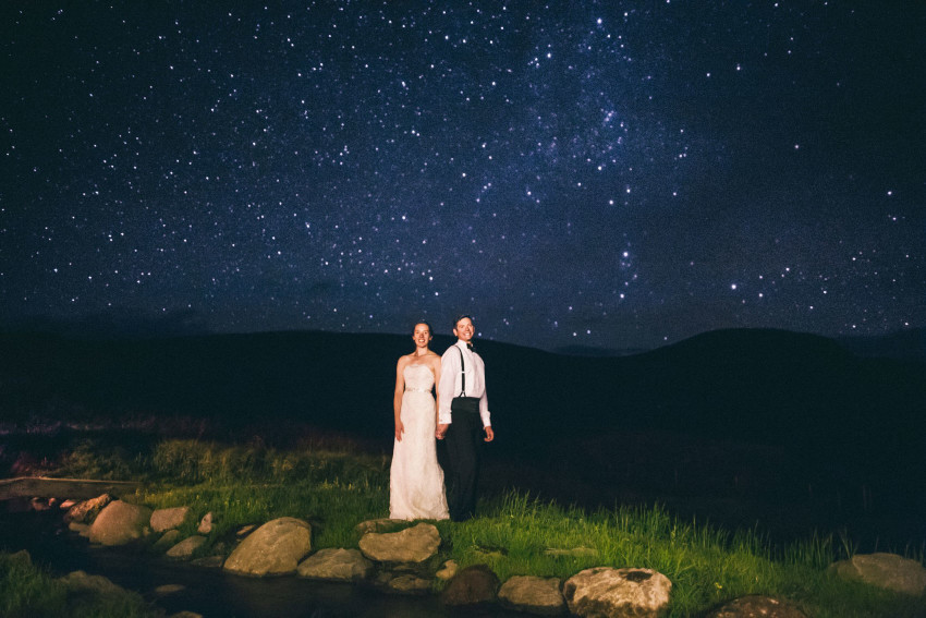 116 Crested Butte CO Private Ranch Wedding Local Foodie Stormy Rain Unique Initimate Burning of Sage Ceremony Barn Live Band Marquee Lights Stars Night Sky