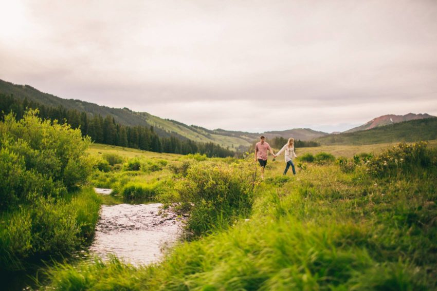 001 Crested Butte Wildflower Adventure Engagement Shoot Washington Gulch Jenna Drew