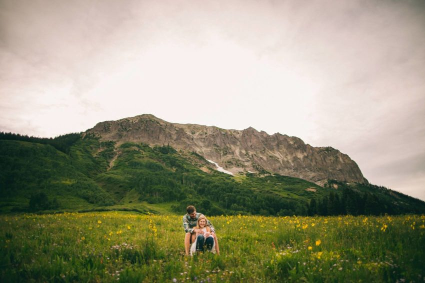 007 Crested Butte Wildflower Adventure Engagement Shoot Washington Gulch Jenna Drew