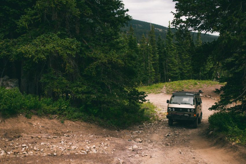 019 Crested Butte Elopement Waterfall Krsitin Phil Westfalia Off Road Adventure