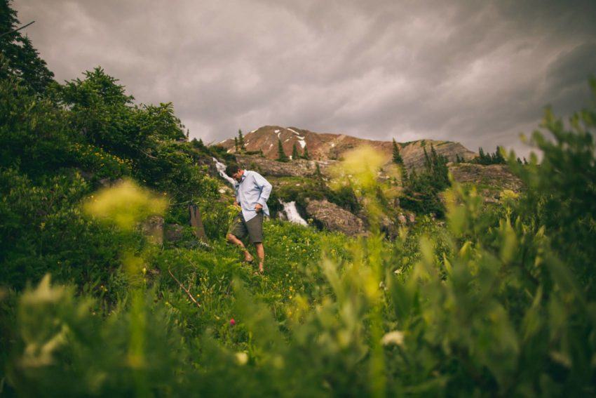 028 Crested Butte Elopement Waterfall Krsitin Phil Westfalia Off Road Adventure