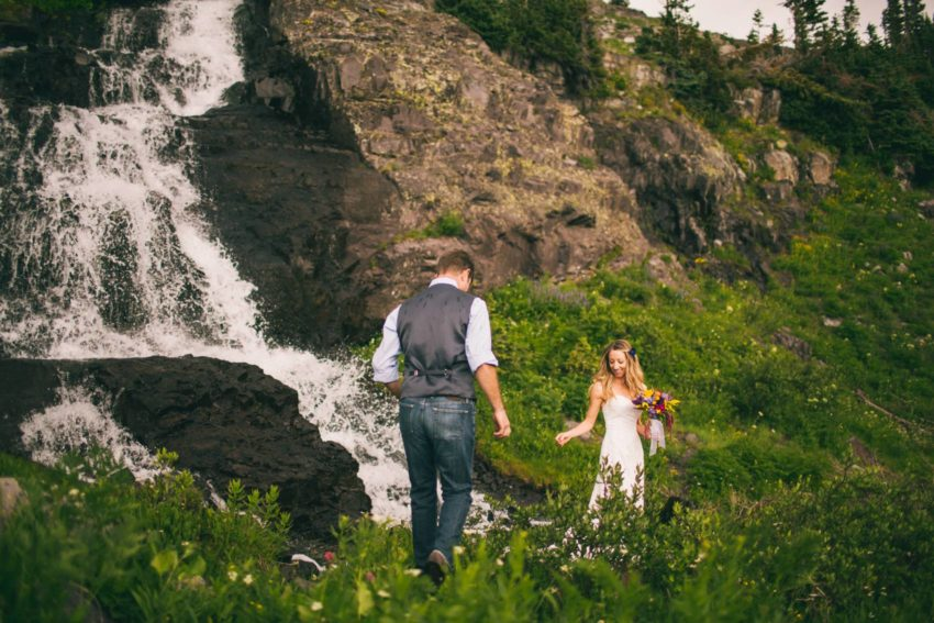035 Crested Butte Elopement Waterfall Krsitin Phil Westfalia Off Road Adventure