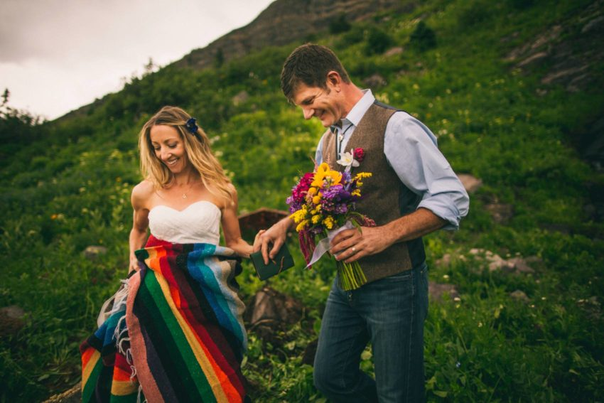 Kristin phil 39 s intimate elopement in front of a for Uley s cabin crested butte wedding